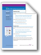 Identifies Initial and Final Consonant Sounds (assessment)