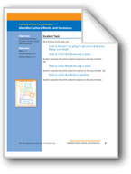 Identifies Letters, Words, and Sentences (assessment)
