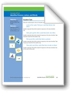 Identifies Pictures, Letters, and Words (assessment)