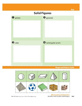 Identifies and Classifies Solid Shapes