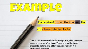 Identifing Compound Sentences- Google Slides Activity