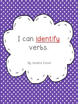 Identifing Verbs: Practice Pages