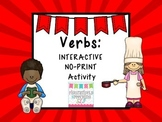 Identifying and Labeling Verbs: An Interactive No Print Activity