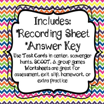 Geometry 60 Task Cards and 8 Worksheets 4th Grade Common Core Aligned