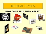Identify 22 Musical Styles Unit