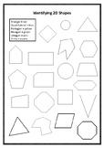 Identify 2D Shapes Colour In