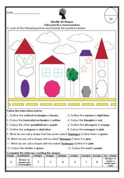 Identify 2D Shapes: Worksheet