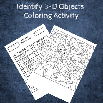 Identify 3-D Objects Coloring Activity