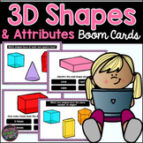 3D Shapes and Attributes Boom Cards | Digital 3D Shapes