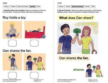 Identify Actions & Locations: Lesson 10, Book 6 (Newitt Prereading Series)