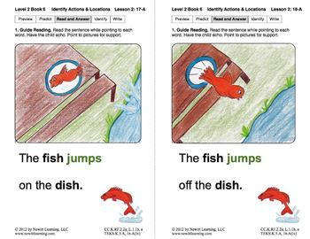 Identify Actions & Locations: Lesson 2, Book 6 (Newitt Prereading Series)