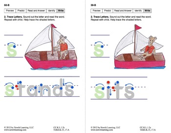 Identify Actions & Locations: Lesson 5, Book 6 (Newitt Prereading Series)
