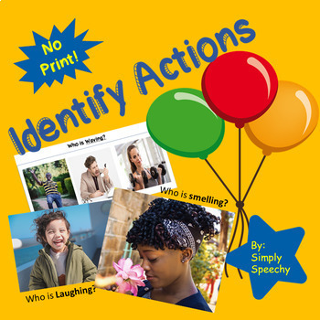 Identify Actions-Basic Verbs No-Print