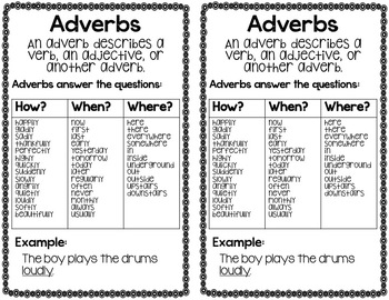 Identify Adverbs Task Cards and Activity Bundle
