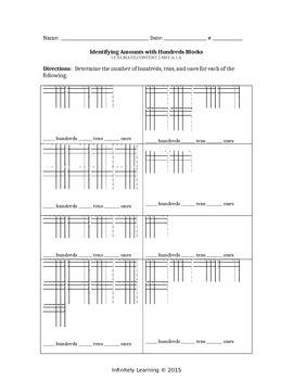 Identify Amounts with Hundreds Blocks