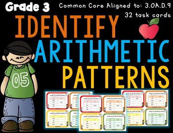 Identify Arithmetic Patterns 3rd Grade 3.OA.D.9