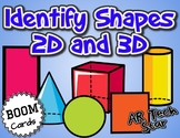 Identify Basic Shapes 2D & 3D with AUDIO Boom Cards