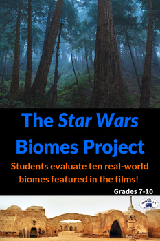 Identify Biomes with all seven Star Wars Movies Project