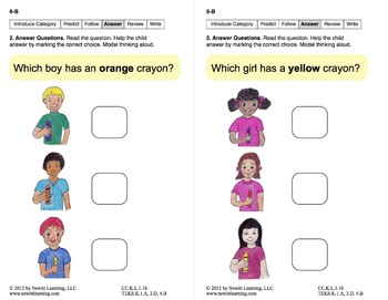 Identify Categories: Lesson 1, Book 4 (Newitt Prereading Series)