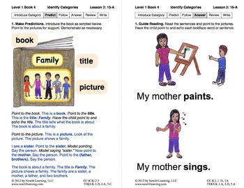 Identify Categories: Lesson 2, Book 4 (Newitt Prereading Series)