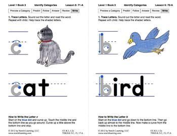 Identify Categories: Lesson 6, Book 3 (Newitt Prereading Series)
