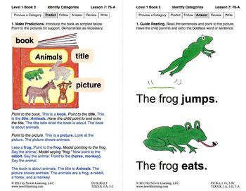 Identify Categories: Lesson 7, Book 3 (Newitt Prereading Series)