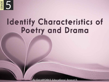 Identify Characteristics of Poetry and Drama