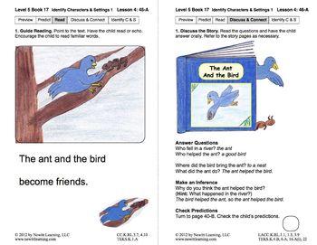 Identify Characters & Settings 1: Lesson 4, Book 17 (Newitt Literature Series)