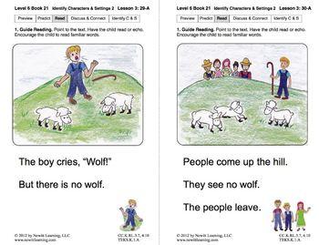 Identify Characters & Settings 2: Lesson 3, Book 21 (Newitt Literature Series)