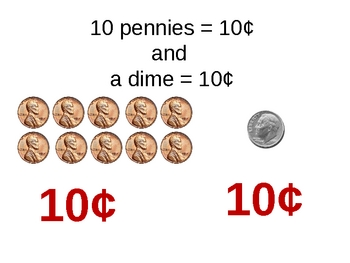 Identify Coins Dimes Nickels and Quarters.