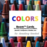 Identify Colors Boom Cards-No Reading Needed (Distance Learning)