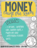 Money Count  the Room Math Center - Identify & Combine Val