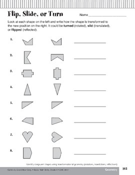 Identify Congruent Shapes/Transformational Geometry