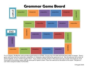 Identify Conjunctions, Interjections, and Prepositions Game - 5th grade CCSS ELA