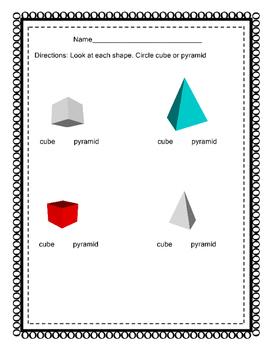 Identify Cube & Pyramid