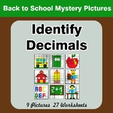 Identify Decimals - Back To School Color By Number | Math Mystery Pictures