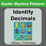 Identify Decimals - Easter Color By Number | Math Mystery Pictures