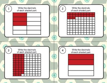 Identify Decimals Task Cards