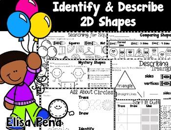 Identify & Describe 2D Shapes (Go Math Ch. 9)