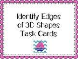 Identify Edges of 3D Shapes Task Cards