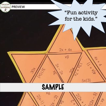 Identify Equivalent Expressions Puzzle Activity