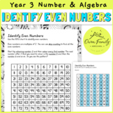 Identify Even Numbers Worksheet Year 3 Mathematics Number
