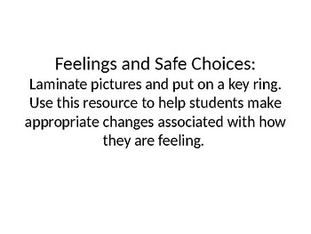 Identify Feelings and Safe Choices