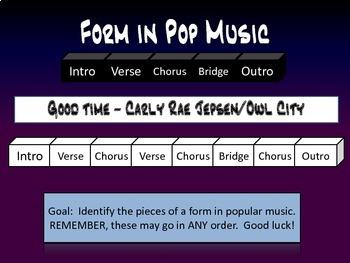 Identify Form in Pop Music!