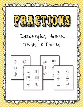 Identify Fractions 1/2 1/3/ 1/4