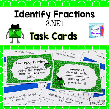Identify Fractions Task Cards FREE