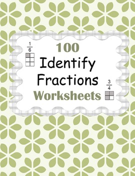 Identify Fractions Worksheets