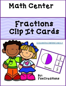 Identify Fractions Clip It Cards ~ Easy Prep