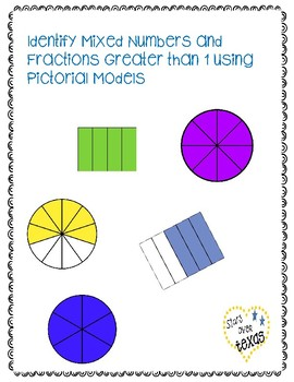 Identify Fractions Greater than 1 and Mixed Numbers