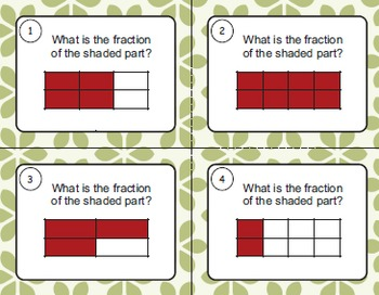 Identify Fractions Task Cards